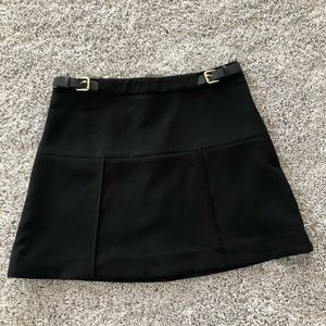 NWOT Express Mini Skirt in Black with Buckles